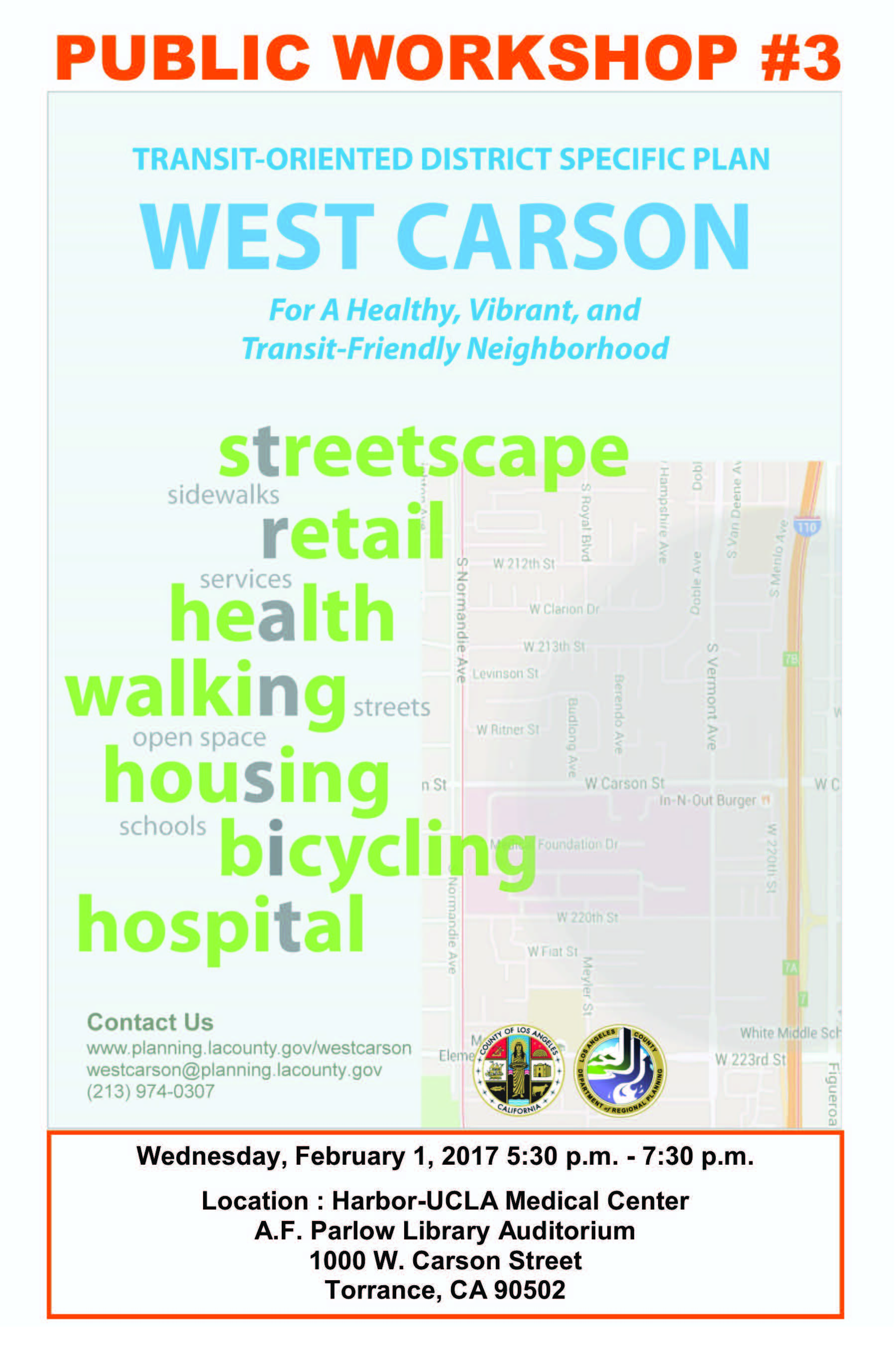 West Carson Public Scoping Meeting Flyer
