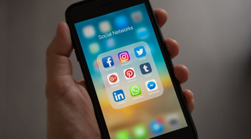 Image of smartphone with social media apps